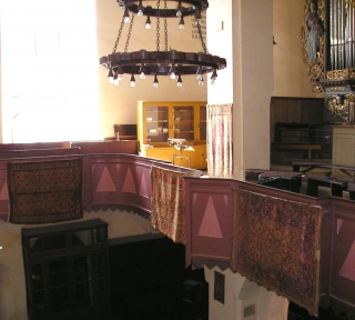 Rugs in the Lutheran cathedral of Sighisoara
