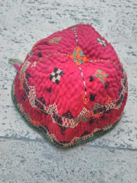 Turkmen hat chodor 20th century silk embroidery
