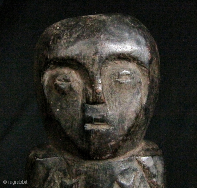 "Timor Ancestor Statue: Old Timorese hard wood statue commemorating a departed loved one. These were kept in the ""attic"" of a home and were not meant to be free standing. I bought  ..."