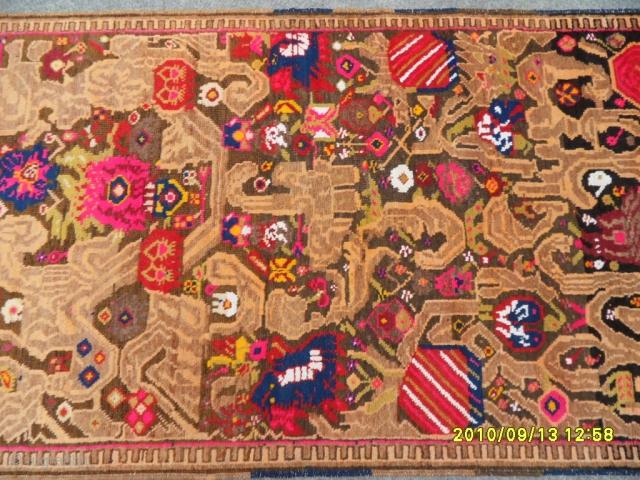 Karabag Susha Carpet very nice piece size: 385x110 cm.