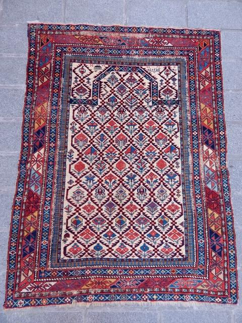 Antique Marasali Sirvan Prayer Rug  Size.128x100 cm  www.anatolianpicker.com