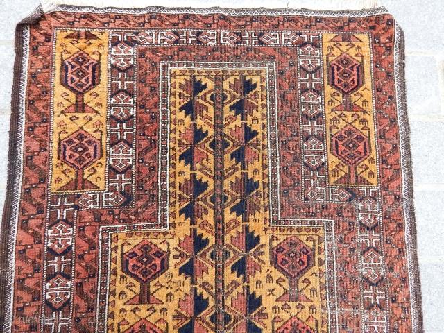 Antique Turkmen Baluch Prayer Rug  size.155x90cm