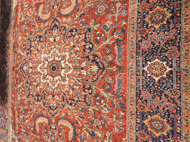 """beautiful heriz persian oriental rug 8' 7"""" x 11' 6"""" full pile very clean estate rug very good condition and very nice colors and reasonable price.SOLD SOLD"""