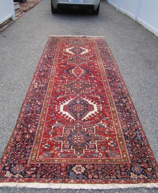 """great old karaja runner 4' 6"""" x 12' 6"""" excellent condition full pile 595 plus shipping            SOLD THANKS"""