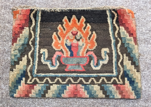 Tibetan seat back original size 48 x 33 cm ca 1920 need a clean €150 with postage
