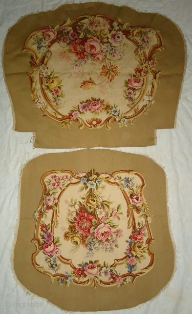 Antique handmade french tapistry cover .
