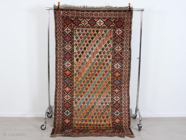 """Antique lovely Luri, 210 x 113 cm / 7' x 3'9"""". In great condition with nice design and beautiful colours."""