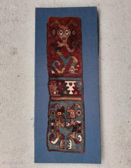 Very old (Nazca? Paracas?) fragment. 38 x 10 cm.