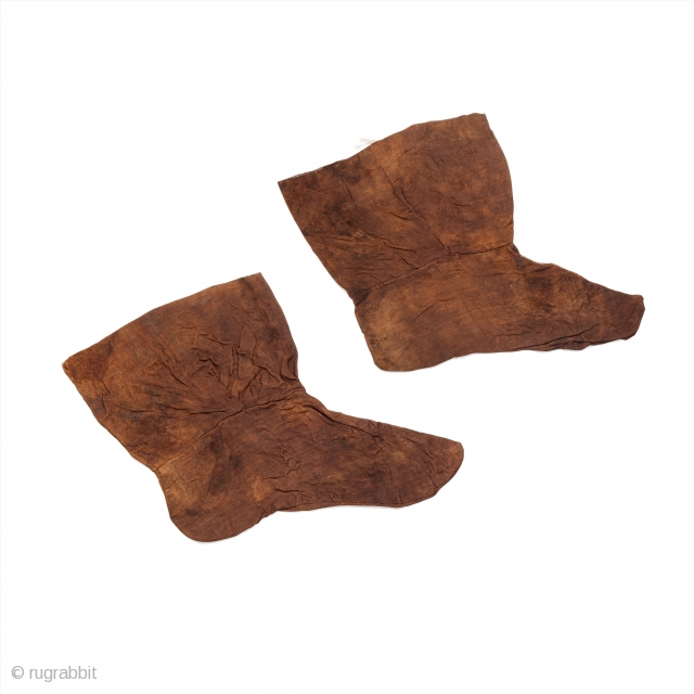 Pair of silk socks, made of three sections, Central Asia