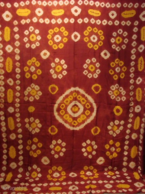 Uzbekistan Tye Dye. Late 19th Century. Amazing colours and condition. 100 % Silk. 246cm long and 200cm wide.