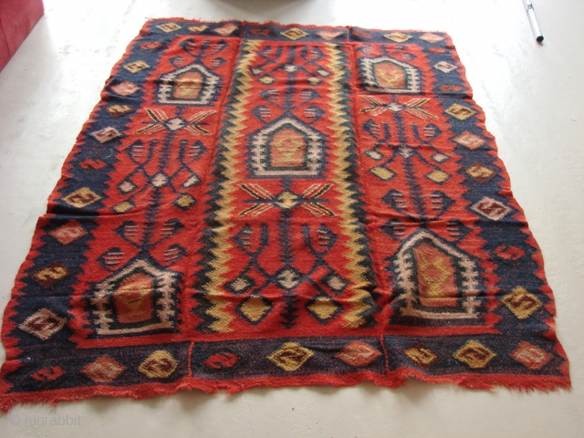 Funky Macedonian.  Wool. 20th Century.