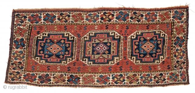 "Lot 10, SHAHSAVAN SUMAKH PANEL 95 x 42 cm (3ft. 1in. x 1ft. 5in.) Persia, mid-19th century Published: ""Mafrash"", Siawosch Azadi 1985, Page 180, Starting bid: € 1.100, Auction on Pril 22nd,  ..."