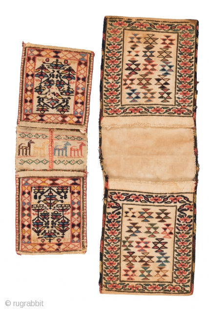Lot 3, Two Gashgai kilim bags, start price: € 600, Auction April 30th 3pm, http://www.liveauctioneers.com/auctioneers/LOT44821868.html
