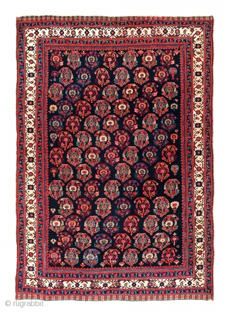 Qashqai, Persia, ca. 1880, 6ft. x 4ft., Starting bid € 800, Auction May 18th at 4pm, https://www.liveauctioneers.com/item/71360015_qashqai