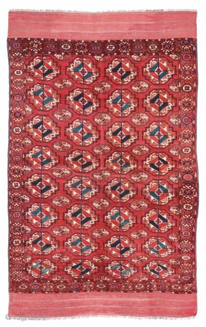 Lot 80, Tekke, Turkmenistan circa 1860, 5ft. 4in. x 4ft. 1in., 164 x 124 cm, 