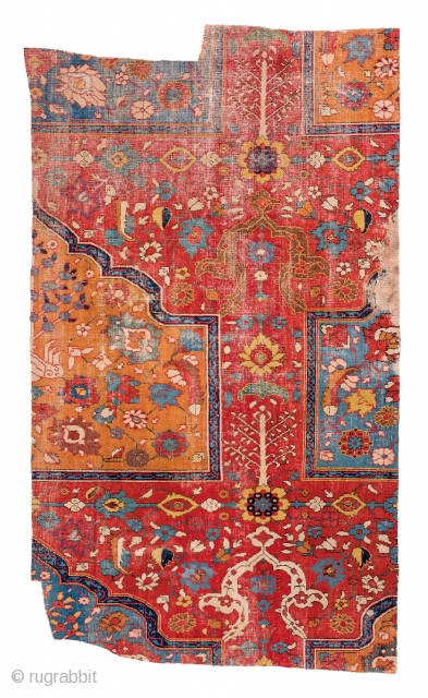 Lot 157, Khorasan fragment of a saf prayer carpet,