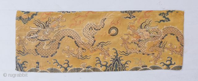 "A Ming or early Qing dragon fragment with a beautifully articulated drawing. 1'10"" x 8"".