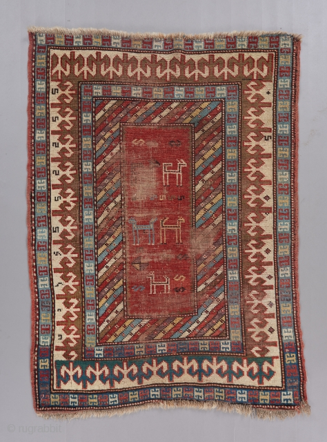 Super cute small caucasian rug with lovely color. 4' x 3'. 