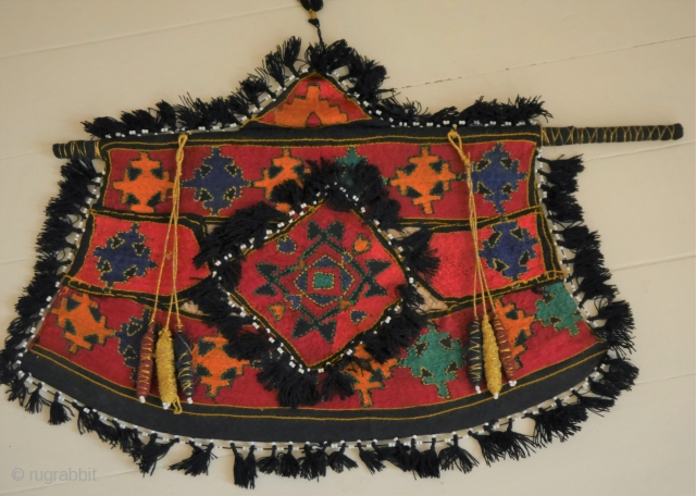 Silk embroidered Swat wedding fan or Pakka.