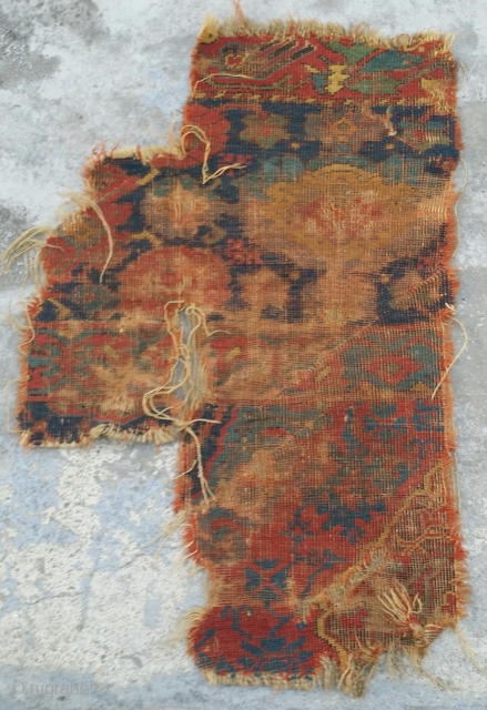 classiacal Turkish Ushak carpet fragment