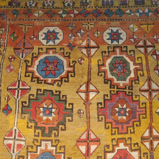 Central Anatolian Konya / Cappadocia rug with colorful Memling guls