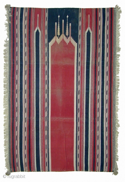 Prayer Dhurrie from Gujarat (India) ---Cotton --- 19/20th century --- 73 x 112cm --- I have more pieces in my stock, please inquire --- Thank you for visiting my website www.m-beste.com
