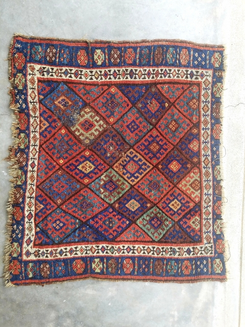 Jaf kurd - nice color and weave. 'as found' distressed condition.  $115/bo + ship.