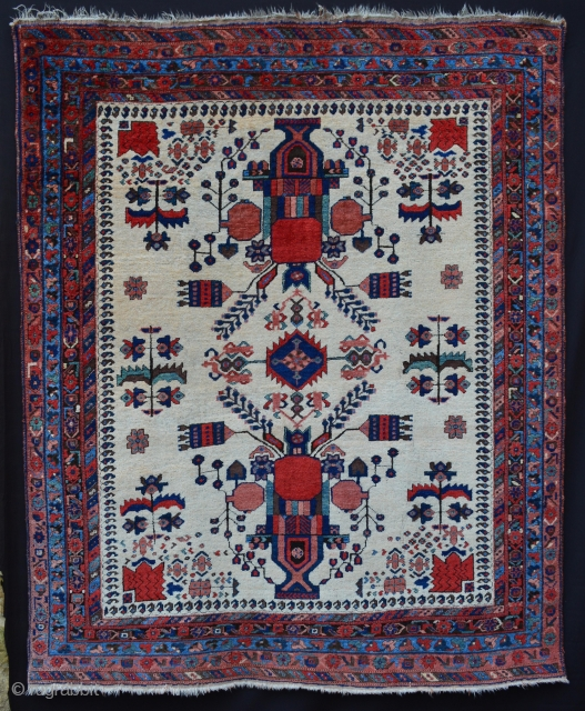 "Very attractive and decorative Afshar rug circa 1900 in good overall condition - 2m x 1.60m (6' 6"" x 5' 3""). Price includes shipping."
