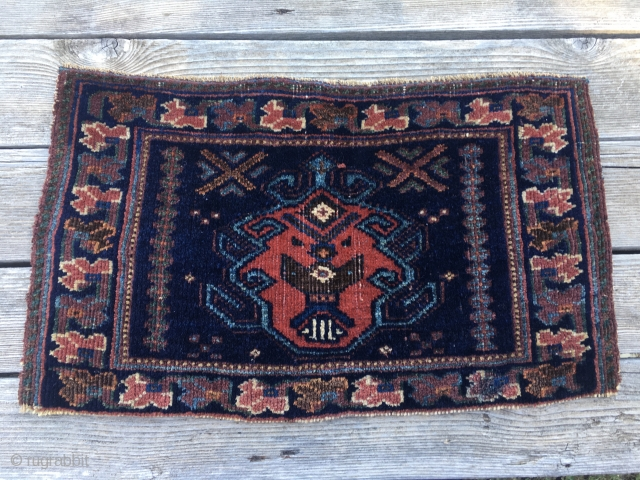 Totemic Afshar pile bag face. Cm 29x51. Over a a