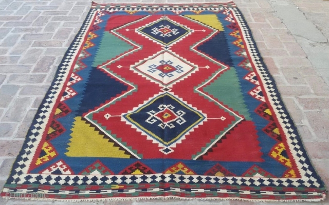 Qashqai kilim. The beauty. Cm 150x250 ca. Early 20th century. In great conditions.