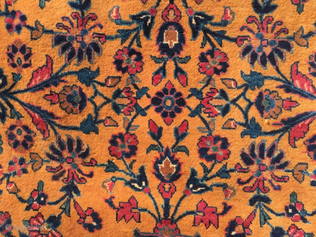 Manchester Kashan ? Cut from the loom condition has been stored for over 50 years   Please inquire for more photos  Size is 43 inches by 43 inches