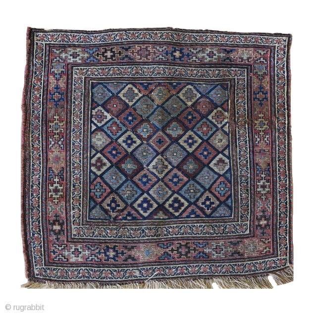 A pretty shah savan ( SHAHSEVAN) bagface. cm 55x55 ca. very fine weaved. 1880 ca Very good condition considering age and use. For any further details please PM