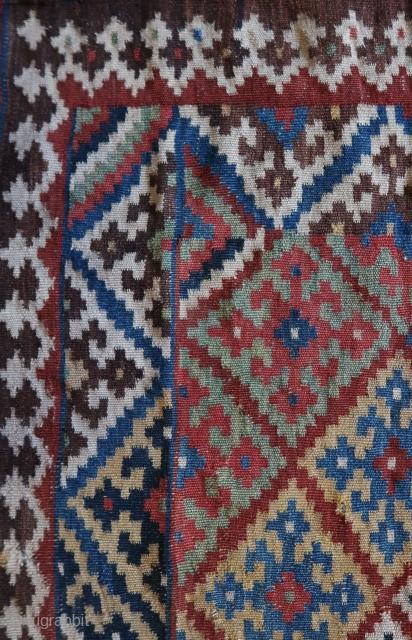 Small flatweave / kilim , south persian tribal Luri Qashquai wool on wool ,all natural colored, ca ;240 cm x 147 cm, around 1900. listening ;Miles Davis - Bags Groove (Full Album) 1957  ...