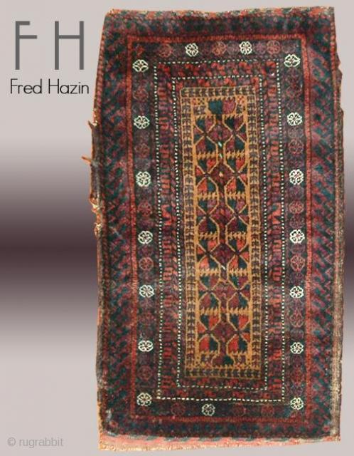 Stock #A119 | Baluch Bag | Ciraca: 1910 | Size: 1.6 x 2.9