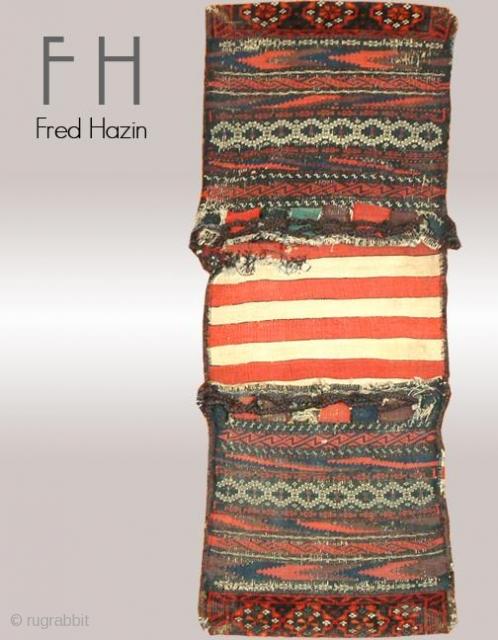 Stock #A125 | Baluch Bag | Circa: 1910 | Size: 1.4 x 3.8