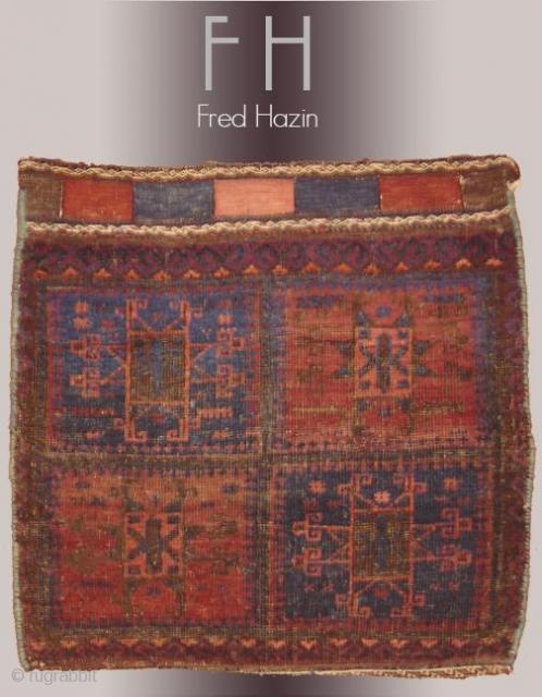 Stock #A164   Baluch Bag   Circa: 1920\'s   Size: 2 x 2.1
