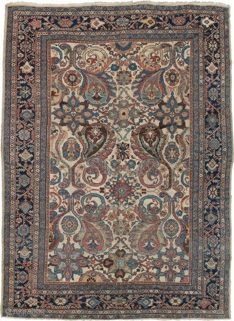 Antique Persian Ziegler Sultanabad Rug