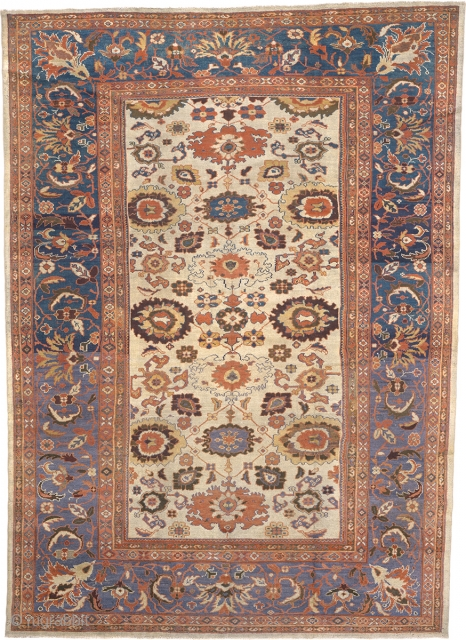 """Antique Persian Ziegler Sultanabad Rug Persia  13'10"""" x 9'9"""" (422 x 298 cm) FJ Hakimian Reference #06098"""