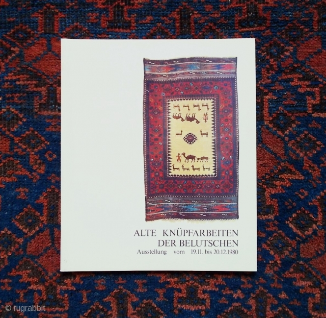 """Baluch rug literature: Bausback: """"Alte Knüpfarbeiten der Belutschen"""" €16; Azadi: """"Carpets in the Baluch Tradition"""" €28 (€40 combined), plus shipping at cost. Other Baluch rug titles available, please enquire."""