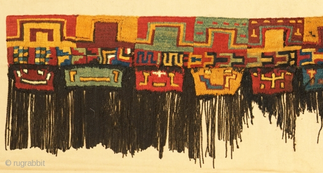 Pre-Columbian knit border of mantle. Early Nasca.
