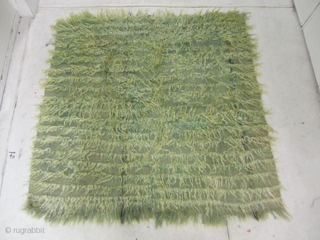 "Filiki Tulu...Karapinar/ Konya Anatolia...mid-20th C.....Angora goat hair and wool....2-pieces joined...very good condition...4'7"" x 4'7"" ( 140 x 140 cm )"