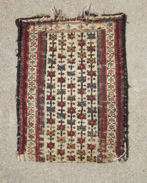 complete Baktiari tent bag...19th C......all veg dye....wool and cotton...more info available... condition as found and shown