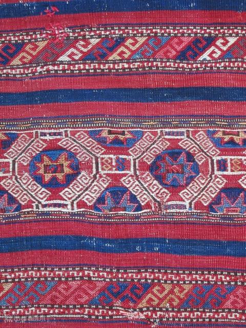 "Northwest Anatolian Cuval ( Bergama-Baliksir area )....19th C......condition as shown.....vegetal dyes...29""x 45"" ( 75cm x 115cm )"
