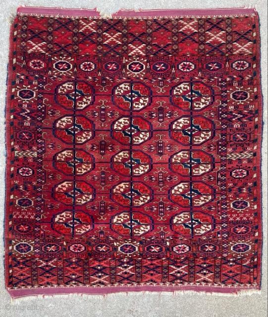 """Antique Tekke wedding rug. 3'0"""" x 3'4"""". Good pile. Reasonable price.  Cheers."""