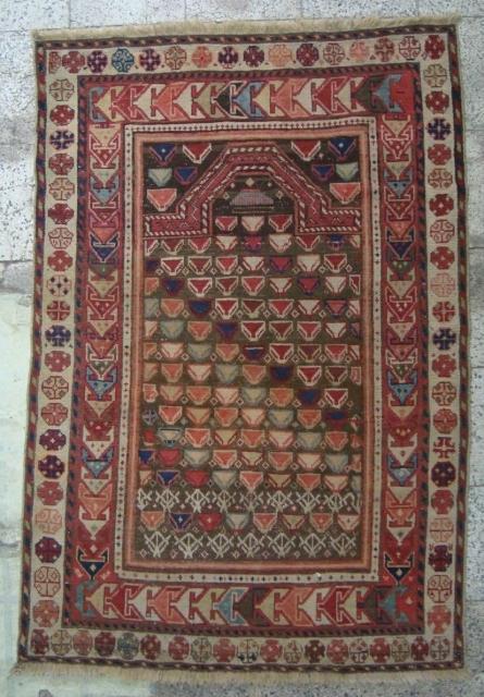 Shirvan  Marasali ( prayer ) rug 137 cm  x  92 cm