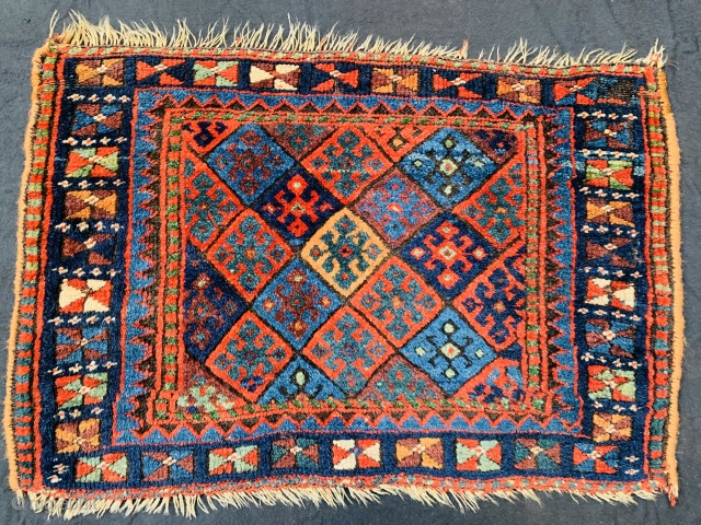 Kurdish Jaf with beautiful natural colors and very good condition. High wool. Size~66x46cm