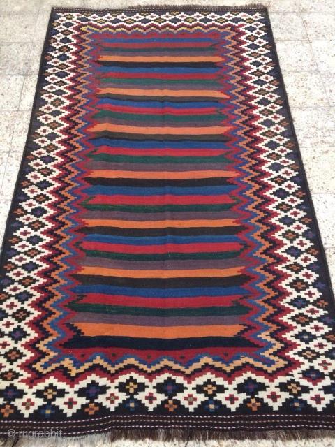 sw Persia double interlock kilim ,Lor i Bakhtiari ,in perfect condition,Size:255x150 cm