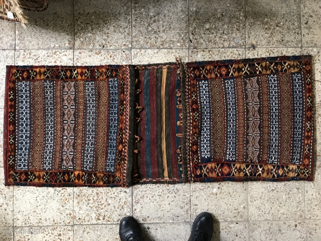 Khorasan province Antique Kalat saddlebag in perfect condition,Size:160X64 cm