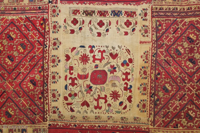 A WONDERFUL GREECE TEXTILE MADE BY PICES FROM ca.1850 - 1900 ,,