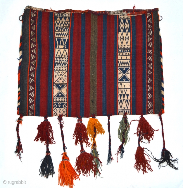 """A large Anatolian chuval, very good overall condition with fine motif and original tassels 40"""" x 31"""" (101cm x 78cm)"""